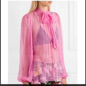 Gorgeous D&G pink sheer top